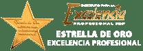 Estrella de oro - Excelencia profesional