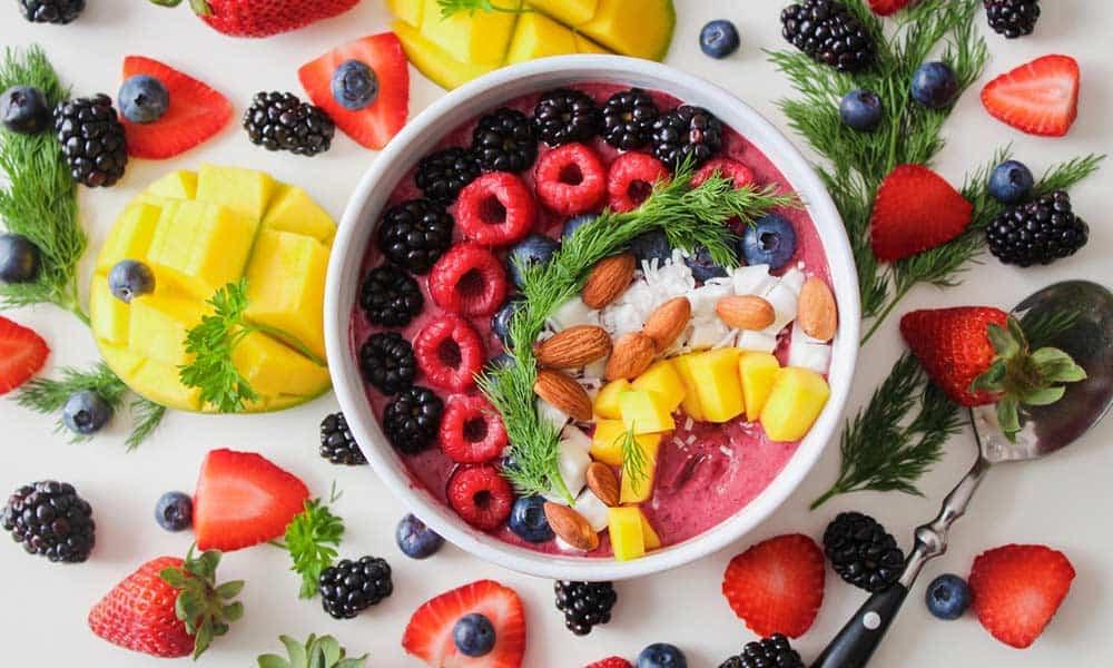 un párrafo sobre comida sana